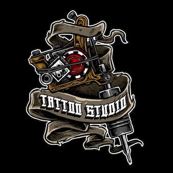 Logotipo de la máquina de tatuaje