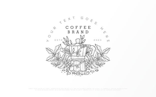 Logotipo de una marca de café