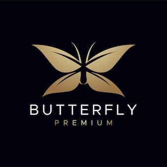 Logotipo de mariposa premium