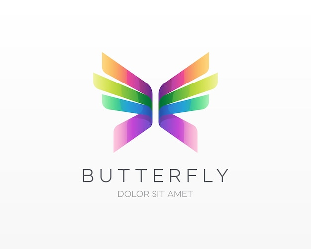 Logotipo de mariposa