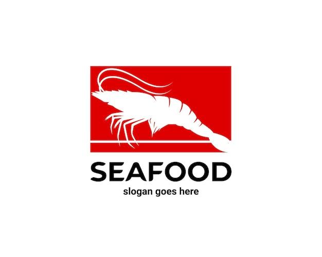 Logotipo de mariscos langostinos langosta
