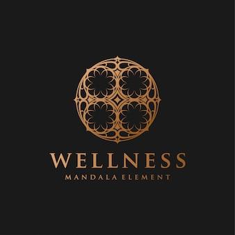 Logotipo de masaje spa yoga
