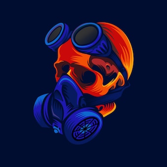 Logotipo de máscara de calavera