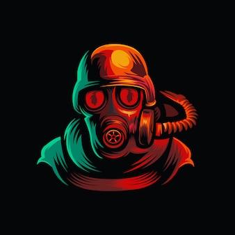 Logotipo de máscara militar