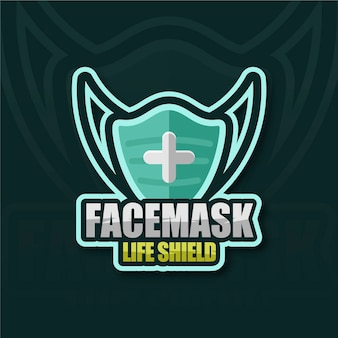 Logotipo de mascarilla creativa