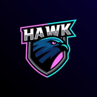 Logotipo de la mascota del águila esport gaming