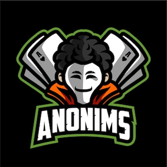 Logotipo de la mascota de anonims