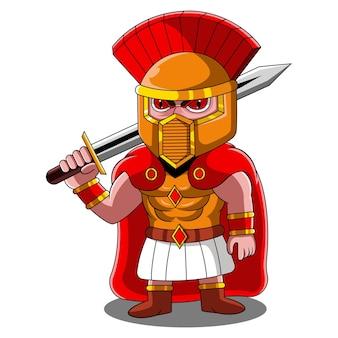 Logotipo de la mascota de ares chibi