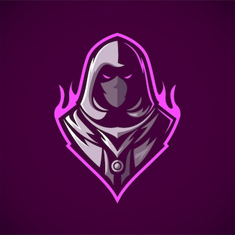 Logotipo de la mascota del asesino ninja