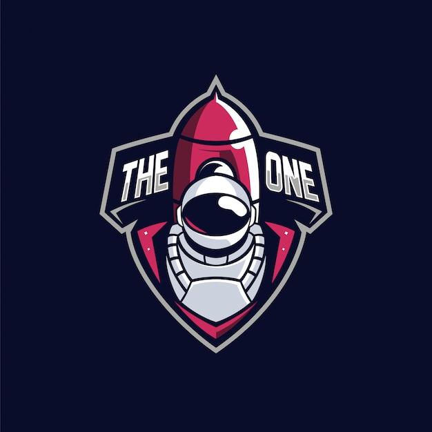 Logotipo de la mascota de astronout