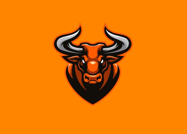 Logotipo de la mascota bull energi esport