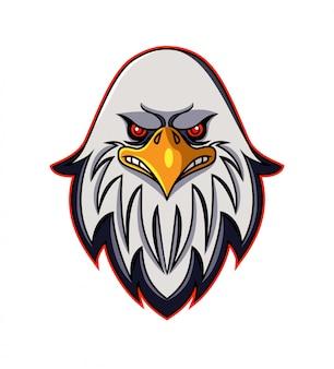 Logotipo de la mascota de cabeza de águila