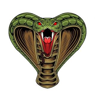 Logotipo de la mascota de la cabeza king cobra