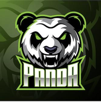 Logotipo de la mascota de cabeza de panda