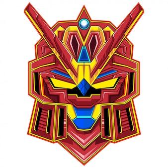 Logotipo de la mascota de la cabeza del robot