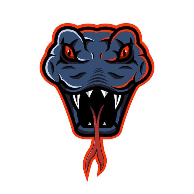Logotipo de la mascota de la cabeza de serpiente
