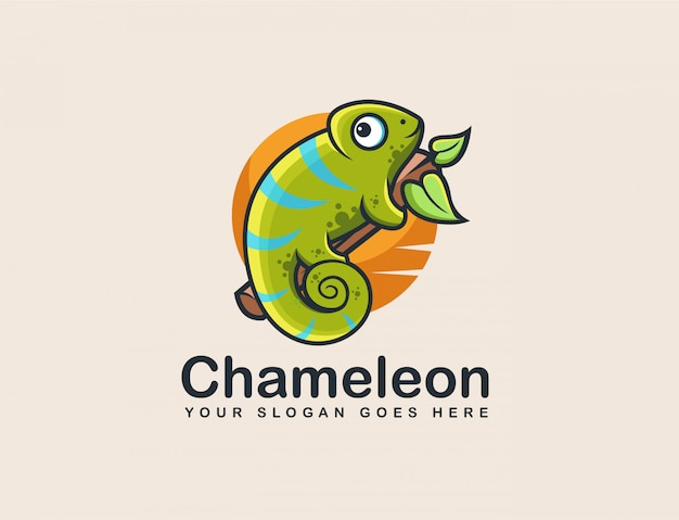 Logotipo de la mascota del camaleón