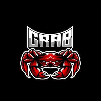 Logotipo de la mascota de cangrejo enojado