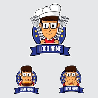 Logotipo de la mascota del chef