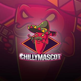 Logotipo de la mascota de chili esport