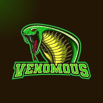 Logotipo de la mascota cobra head para deportes y deportes