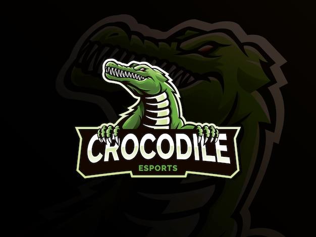 Logotipo de la mascota de cocodrilo