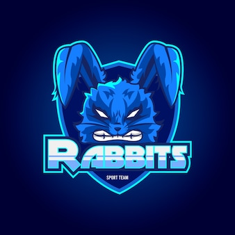 Logotipo de la mascota de conejos