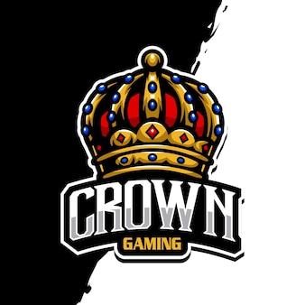 Logotipo de la mascota de la corona epsort gaming