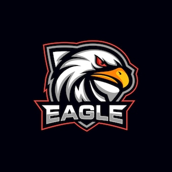 Logotipo de la mascota creative eagle head