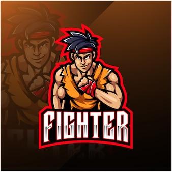Logotipo de la mascota del deporte de combate