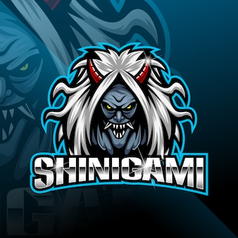 Logotipo de la mascota del deporte shinigami