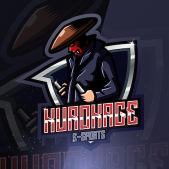 Logotipo de la mascota deportiva kurokage