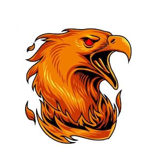 Logotipo de la mascota deportiva de phoenix