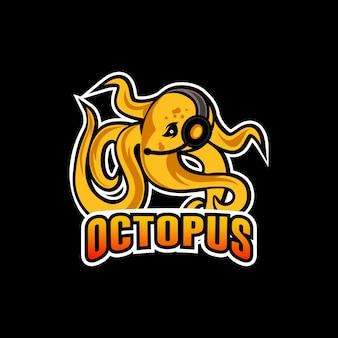Logotipo de la mascota deportiva de pulpo
