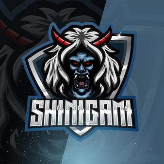 Logotipo de la mascota deportiva shinigami