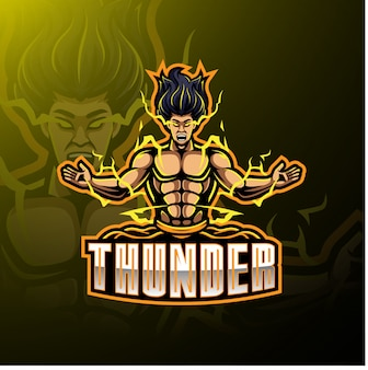 Logotipo de la mascota deportiva thunder