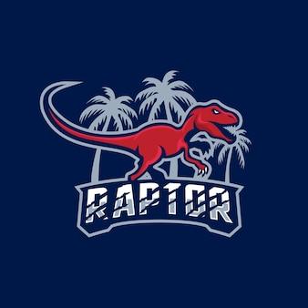 Logotipo de la mascota del dinosaurio tiranosaurio rex