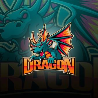 Logotipo de la mascota de dragon esport