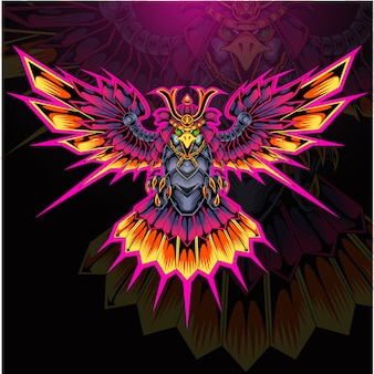 Logotipo de la mascota de eagle armor esport