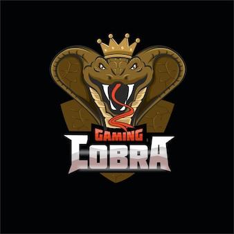 Logotipo de la mascota del equipo de deportes electrónicos cobra gaming