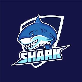 Logotipo de la mascota del equipo shark e-sports