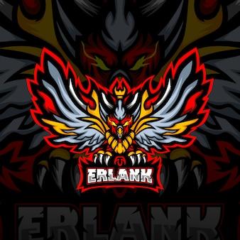 Logotipo de la mascota de erlank esport