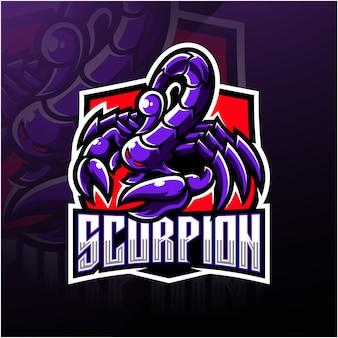 Logotipo de la mascota de escorpion esport