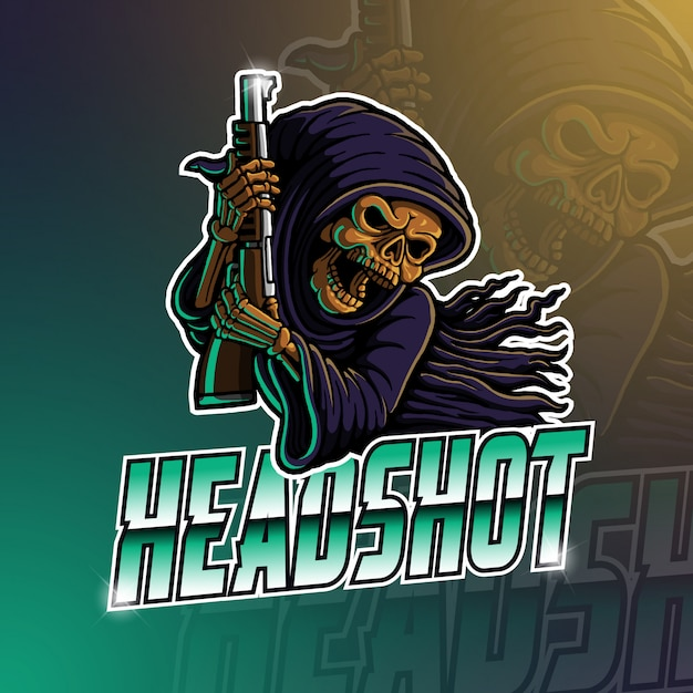 Logotipo de la mascota de esport grim reaper