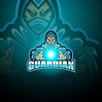 Logotipo de la mascota de esport guardian