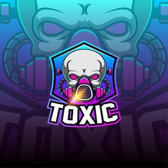 Logotipo de la mascota de esport tóxico