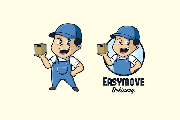 Logotipo de mascota de fácil movimiento