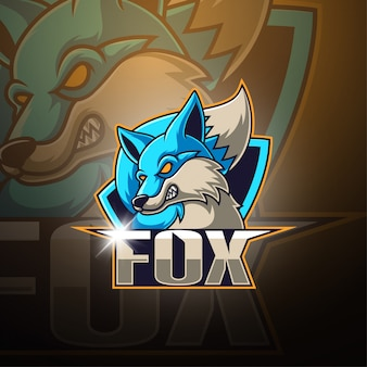 Logotipo de la mascota fox esport