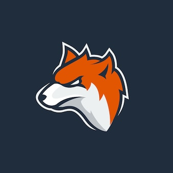 Logotipo de la mascota de fox esport