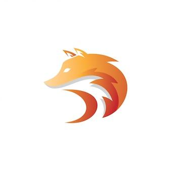 Logotipo de la mascota de fox foxy head